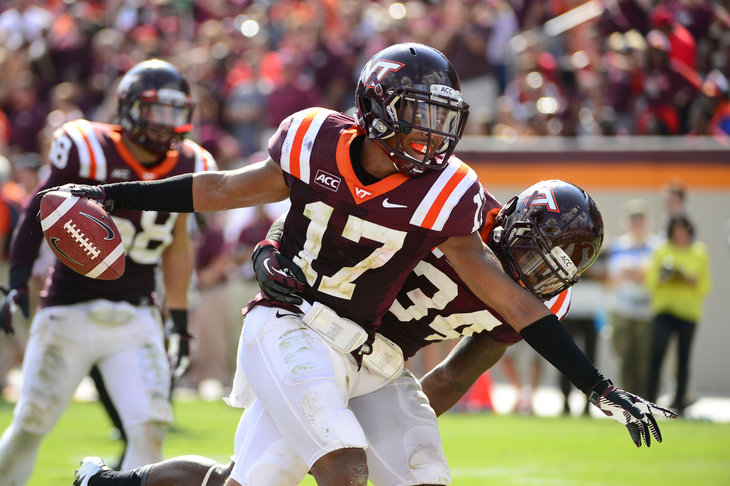 NCAA Football: North Carolina at Virginia Tech